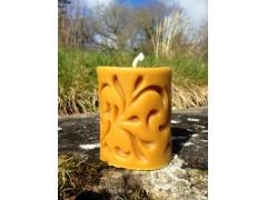 Bougie en cire d'abeille - Cierge sculpté - 330g