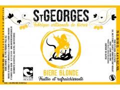 Bière St Georges Blonde 75 cl - Nature et Progrès