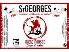 Bière St Georges Rousse 75 cl - Nature et Progrès